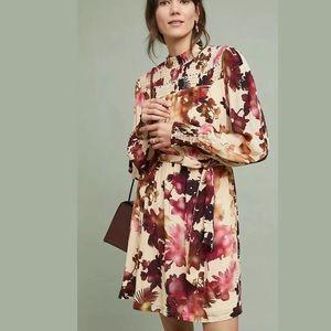 New Anthropologie Vineet Bahl Watercolor Dress